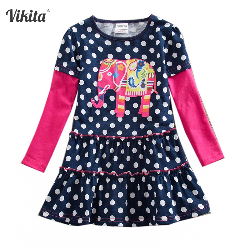 VIKITA Girls Dress Cartoon Kids Dresses For Girls Clothes Baby Children Clothing Vestidos Costume Roupas Infantis Menina 2-7Y босоножки