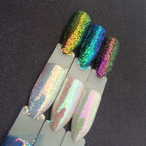 Image 5 - 3กระปุก/ชุดAurora Glitter Mermaid Unicorn Sequins 3Dเล็บChrome Pigmentเล็บGlitterตกแต่งผงSUPER SHININGผล