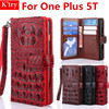 High Quality 3D Alligator Crocodile Silicone Skin Leather Card Holder Wallet Case For One Plus 5T