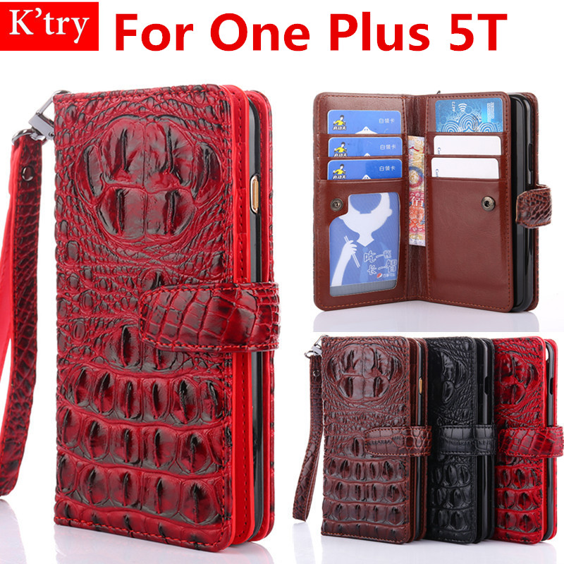 High Quality 3D Alligator Crocodile Silicone Skin Leather Card Holder Wallet Case For One Plus 5T 6.01 '' Phone Bag Fundas