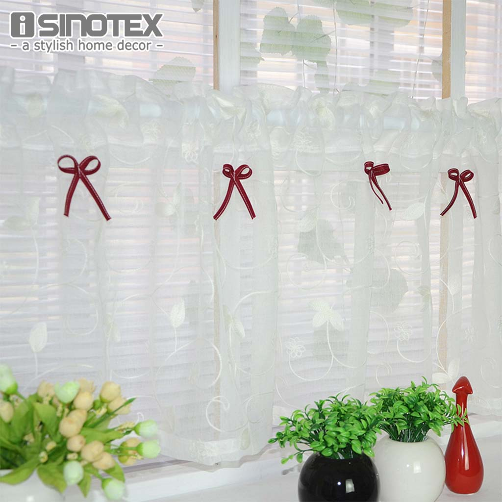 window valance half curtain embroidery customize light shading for the kitchen cabinet coffee tulle curtain. Interior Design Ideas. Home Design Ideas