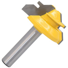 45 Degree Lock Miter Router Bit 8mm Shank Trimmer Milling Joint Cutter For MDF(China)