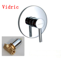 Concealed installation Copper Into the wall concealed shower faucet mixer triplet , shower hot and cold mixing valve brass