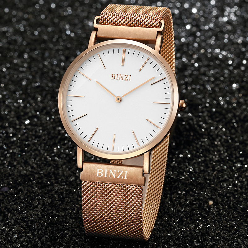 Top brand2019 stainless Steel Luxury Watches Men Waterproof Ultra Thin Gold Mens Quartz Sports Wrist Watch montre homme