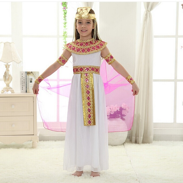 Cute Queen Dress in Cosplay Carnival Party Beautiful Kids Costume Children  Cosplay Halloween Party Egypt Princess Dress 5d84e8a3a7ea