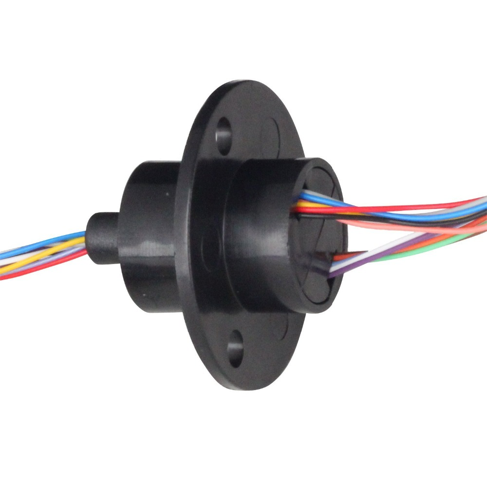 FREE Ship 22M 300RPM 12 Circuits 2A Capsule Slip Ring 12 Conductors rotary electrical collector electrical interfaces