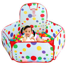 Kids House Play Tent Foldable Children Outdoor Play House Baby Ocean Ball Pit Pool Play Tents Game Toys Kids Playing Pool Tent