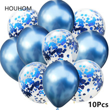 10Pcs Mixed Gold Confetti Balloons Birthday Party Decoration adult kids Metallic Balloon Air Ballon Decor