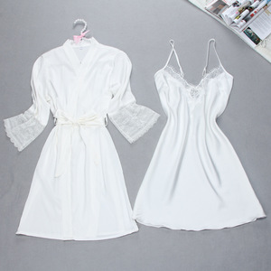 Image 3 - Sexy Summer Womens Robe Bath Gown Sleepwear Casual Ladies Home Wear Nightwear
