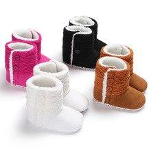 Winter 0-1 years old men and women baby warm plus velvet non-slip soft bottom