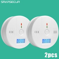 Home Security 85dB Warning High Sensitive LCD Photoelectric Independent CO Gas Sensor Carbon Monoxide Poisoning Alarm