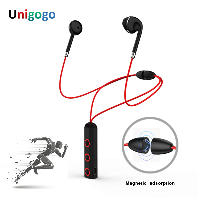 Magnetic Design Sport Bluetooth Headphones Neckband wireless Earphone stereo music cordless Earbuds Handsfree Headset with Mic