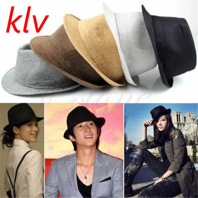 Fashion Mens Women Unisex Summer Hats 5 Colors Solid Straw Hat For