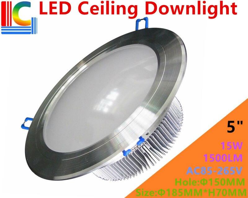 Ультра-яркий 5in. 12 Вт Downlight AC85-265V 110 В 220 В высокое Мощность встраиваемый потолочный светильник ce Spotlight для домашнего освещения