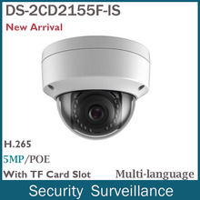 5MP Cámara IP Onvif POE Audio Interfaz De Alarma DS-2CD2155F-IS IR 30 M Cámara Al Aire Libre de Cámaras de Seguridad 2.8mm lente CCTV cámara