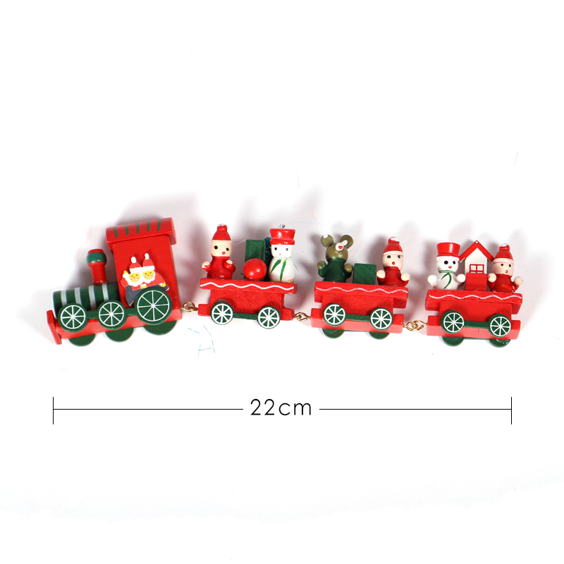 New Christmas Cartoon Train Christmas Decoration Kids Toys Gift Decoration New Year Gift HOYVJOY in Pendant Drop Ornaments from Home Garden