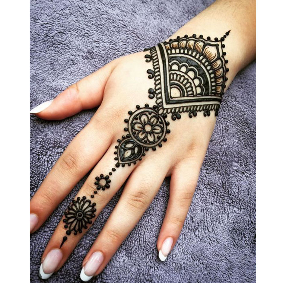 US $14 39 26% OFF|Golecha Mehndi Hena tattoo Henna Cones Party 5pcs Black  Red Brown Natural Organic tattoo paste paint Body Art tatuaje de henna-in