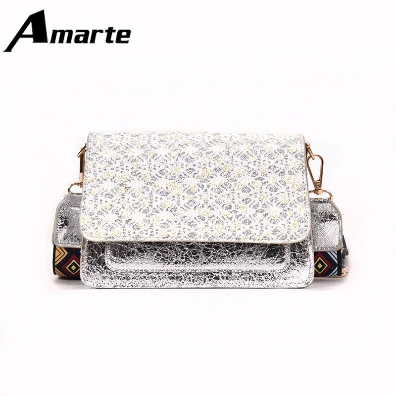 Amarte woman Pu Handbags Brand Designers 2019 Hand Bag Flap Shoulder with Fashion Appliques Bags