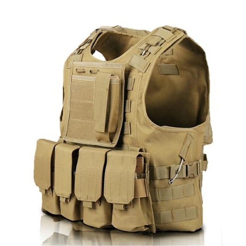 Ny camouflage jagt militær taktisk vest Wargame Body Molle rustning - Sikkerhed og beskyttelse - Foto 3