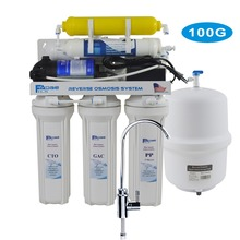 6-Stage Residential Under-Sink Reverse Osmosis Drinking Water Filtration System with Remineralization Filter/100-240V - 100GPD цена и фото