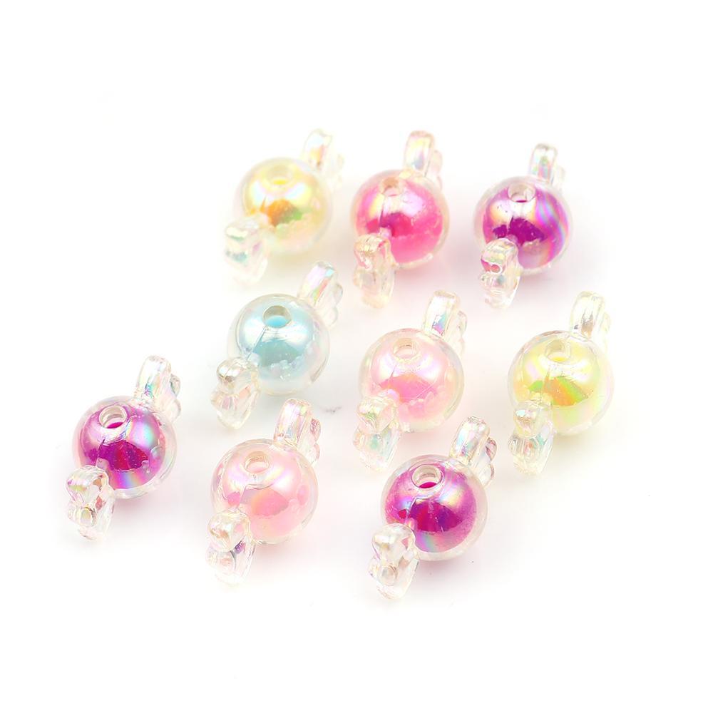 100 Piece Random Mixed Acrylic Marine life Spacer Beads Jewelry Making 13mm