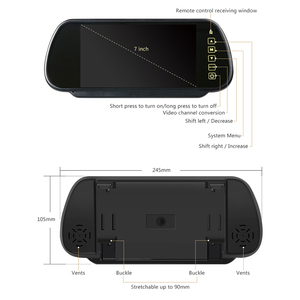 Image 2 - AOSHIKE 7 Bildschirm 800*480 12V Auto Monitor Für Rückfahr Kamera 7 Zoll LCD Led anzeige Universal mit Fahrzeug Kamera Parkplatz