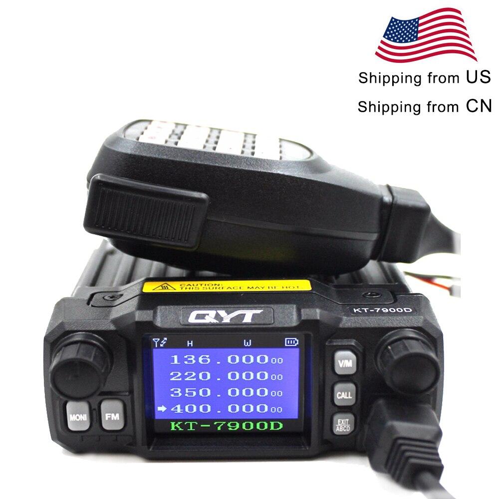 Qyt mini rádio KT-7900D 25w quad band 136-174/220-260/350-390/400-480mhz kt7900d woki toki