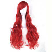 Soowee 20 Colors Long Curly Women's Hairpiece High Temperature Fiber Synthetic Hair Gray Red Party Hair Cosplay Wigs