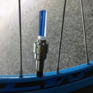 4PCS/Lot LED Bicycle Lights Wheel Tire Valve Caps Bike Accessories Cycling Lantern Spokes Bike Lamp Color blue Green Pink Yellow(China)