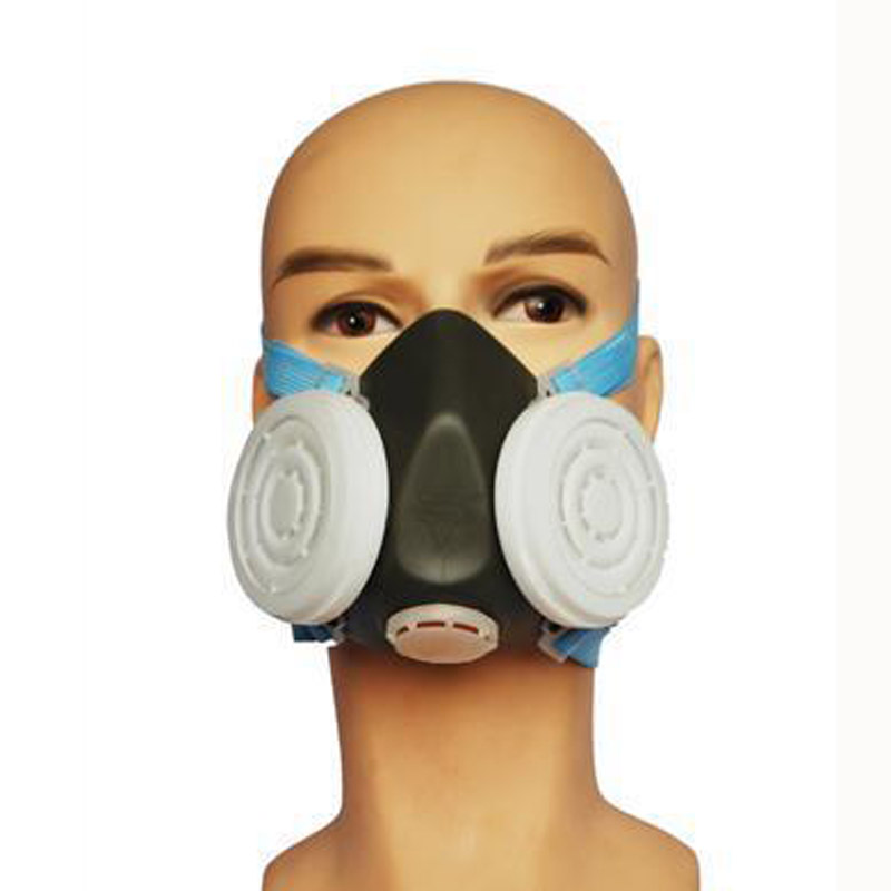 Respirator Dust Mask Protective Mask Anti Dust Organic Gases and Vapors Filter Cartridge Face Shield Workplace Safety GMZ008