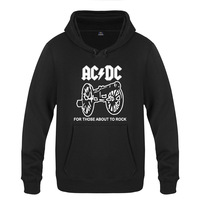 Rock Band ACDC Printed Hoodies Men Hip Hop Fleece Long Sleeve Pullover Sweatshirt Winter Man Street Skateboard Tracksuit Hoody