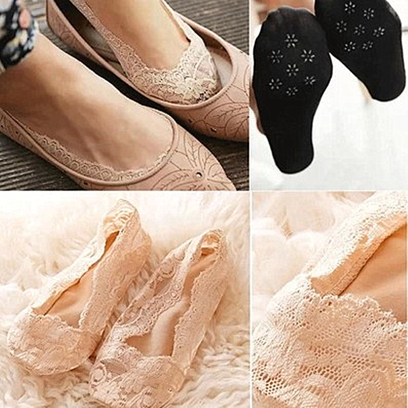 lace shallow mouth socks Silicone short socks slippers