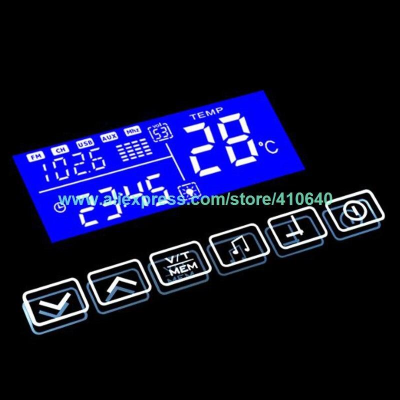 K3015CA сенсорный выключатель с подсветкой, Bluetooth, fm радио, температурный дисплей с календарем для ванной комнаты или шкафа