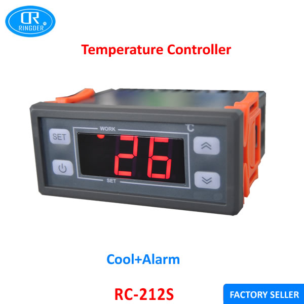 RINGDER RC-212S 110V10A Cool and High Low Temp Alarm Two Outputs Universal  Digital Temperature Controller Regulator Thermostat - Electric Fireplace Thermostat Promotion-Shop For Promotional