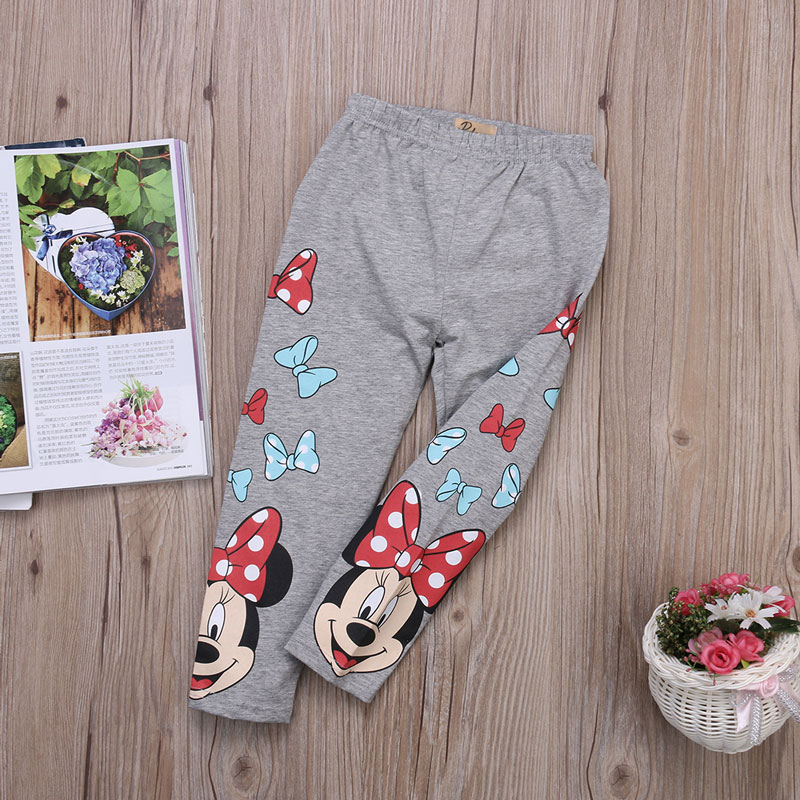 2 6 Year Print Cartoon Mickey Minnie Mouse Pants Baby Girl Leggings Toddler Classic Casual Legging Kids Girls Trousers in Pants from Mother Kids