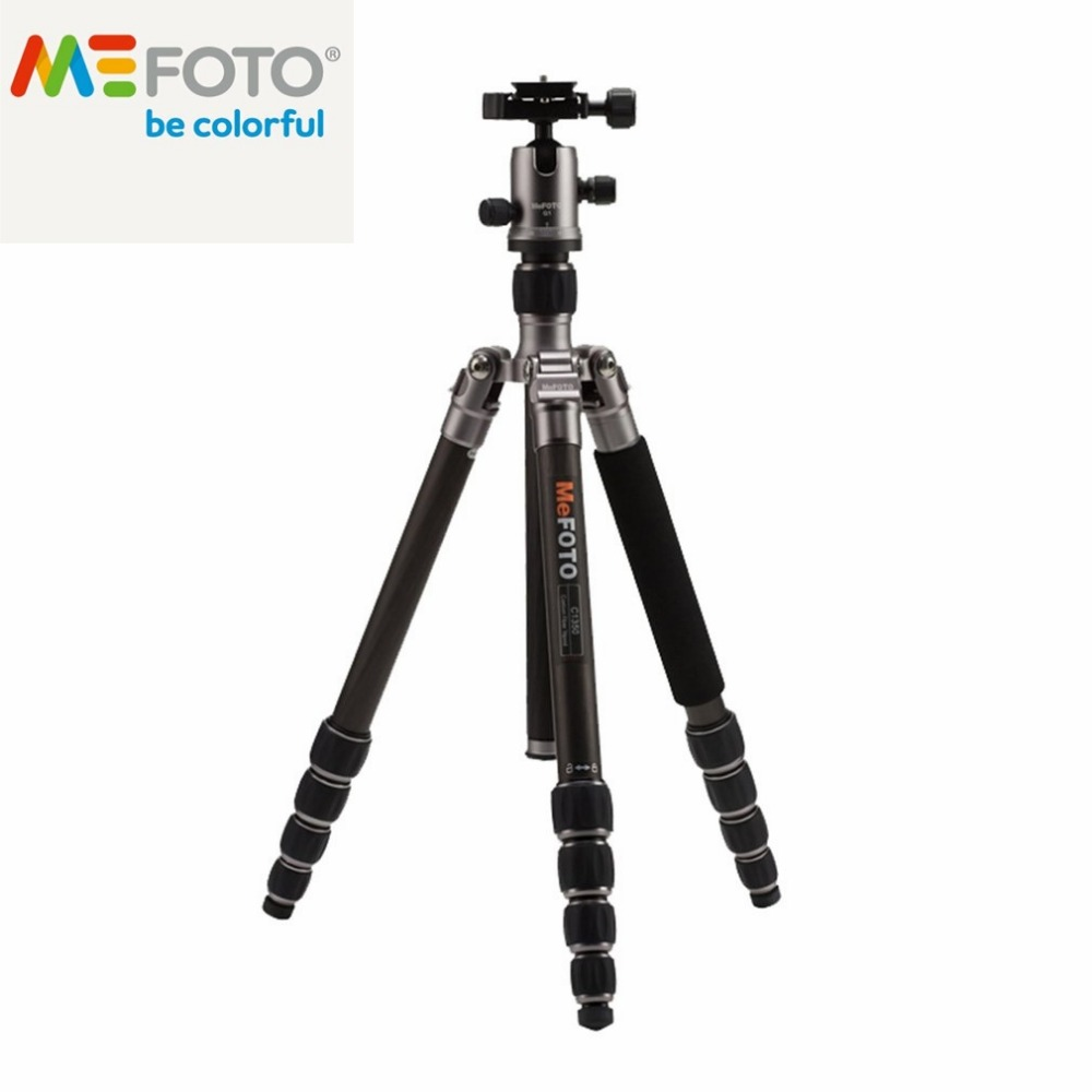 все цены на Brand New MeFOTO Classic Carbon Fiber Roadtrip Travel Tripod Monopod Kit Professional tripod 5 Colors Avaliable for DSLR SLR онлайн