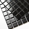 Square Black Color Ceramic Mosaic Tiles Kitchen Backsplash Wall Bathroom Wall And Floor Tiles Matt And