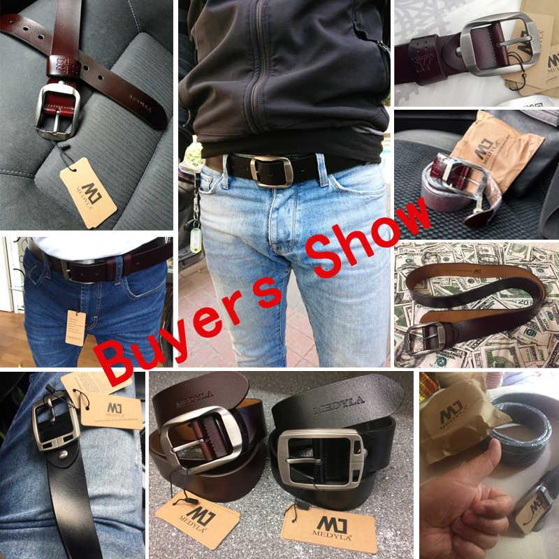 Mannen Hoge Kwaliteit Echt Lederen Riem Luxe Designer Riemen Mannen Koeienhuid Mode Riem Mannelijke Jeans Voor Man Cowboy Gratis Verzending