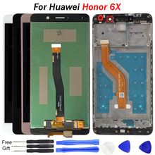 For Huawei Honor 6X LCD Display Touch Screen with Frame 2017 Display for Huawei Honor 6X Screen BLN-L21 free tools