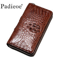 2018new luxury brand card clip casual men's wallet leather men's women's wallet real crocodile leather leather handbag men's bag