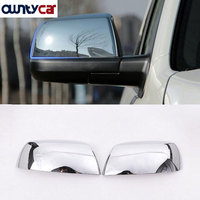 For Toyota Tundra Crew Max 08 15 Sequoia ABS Polish Chrome Side Rearview Mirror Cover Trim Stickers 2pcs/set