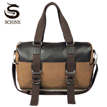 Hot Men Casual Briefcase Business Shoulder Bag Canvas Messen