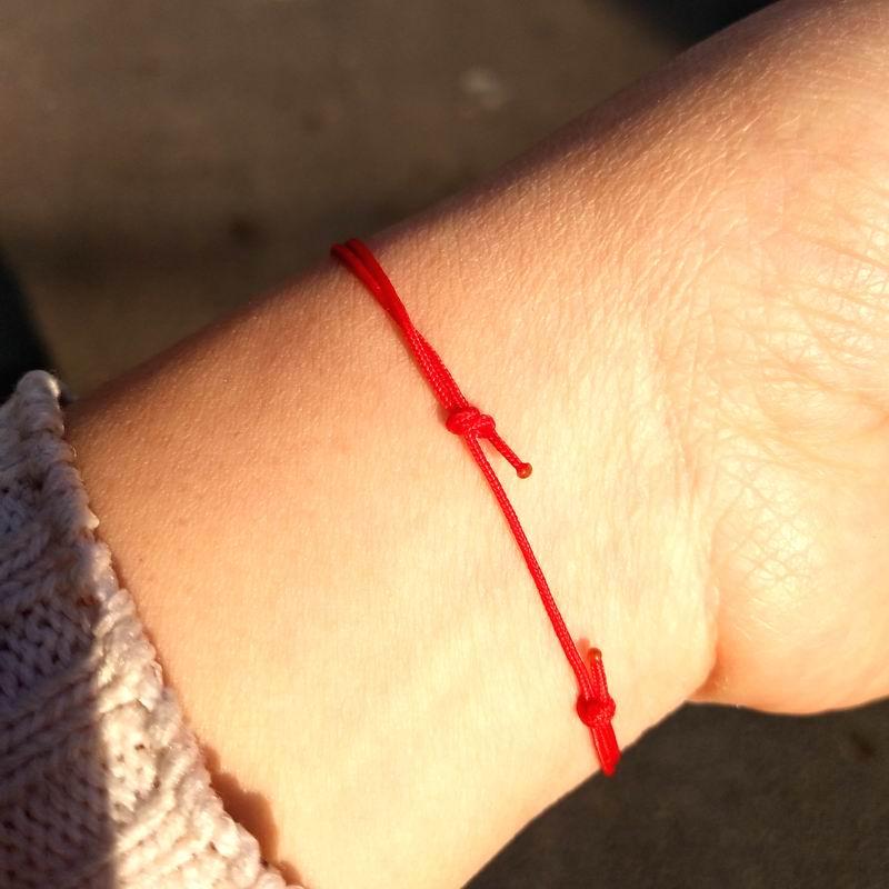 Einfache dünne glückliche rote Schnur-Armband-Frauen neue - Modeschmuck - Foto 2