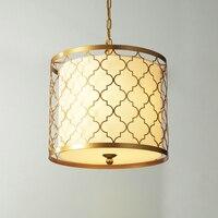 led e14 American Iron Copper Fabric LED Lamp LED Light.Pendant Lights.Pendant Lamp.Pendant light For Dinning Room Foyer Bedroom