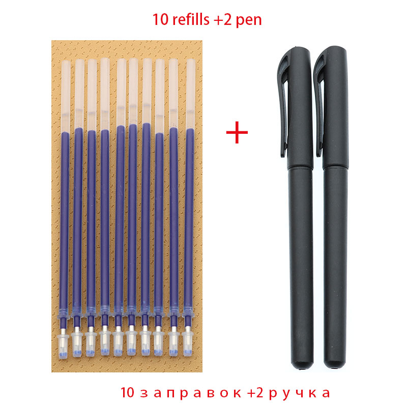 Bullet Pen 0.5mm Pen 2 + 10 Box Office Supplies Test Accessories Blue Black Red Ink Writing Learning Stationery Writing Smooth