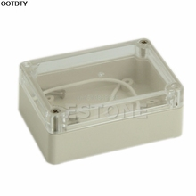 1pc 85x58x33mm Waterproof Cover Clear Plastic Electronic Project Box Enclosure CASE