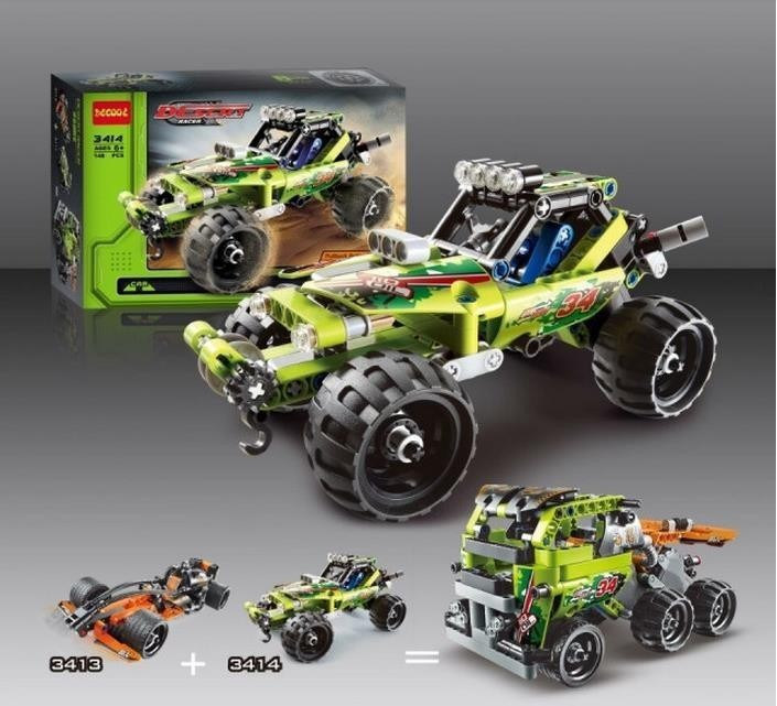 High Technic 2 in 1 warrior off-roader racer Car Model 3D building set sports car brick toys Kids Gifts