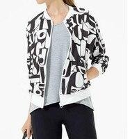 Printed Jacket Baseball Short Coat for Women 2019 Fashion Plus Size Long Sleeved Bomber Jacket Coats Z680