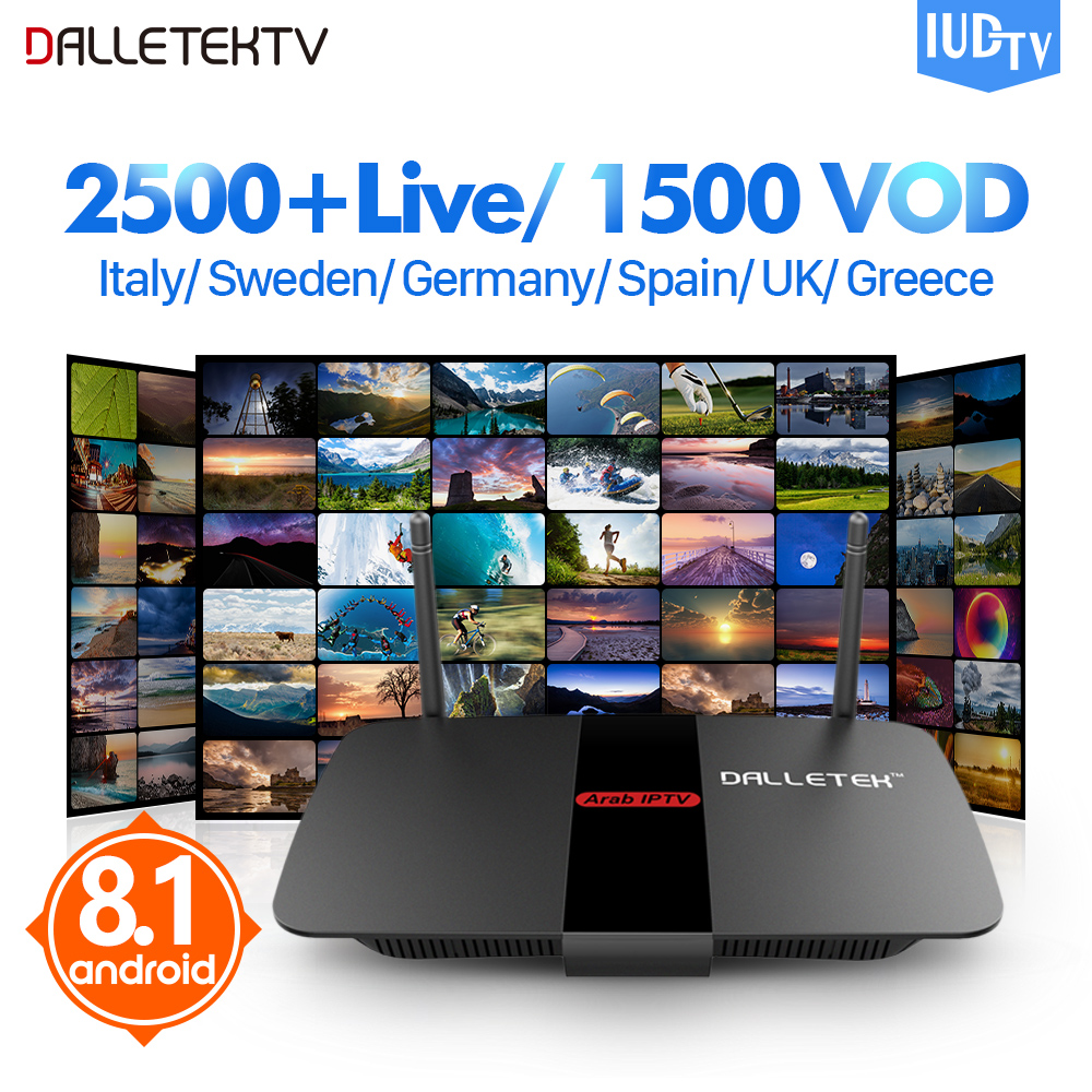 цена на Leadcool IPTV Sweden Europe R1 TV Receiver Android 8.1 Quad-Core PK Leadcool TV box IPTV UK Italy Sweden Spain Portugal IP TV