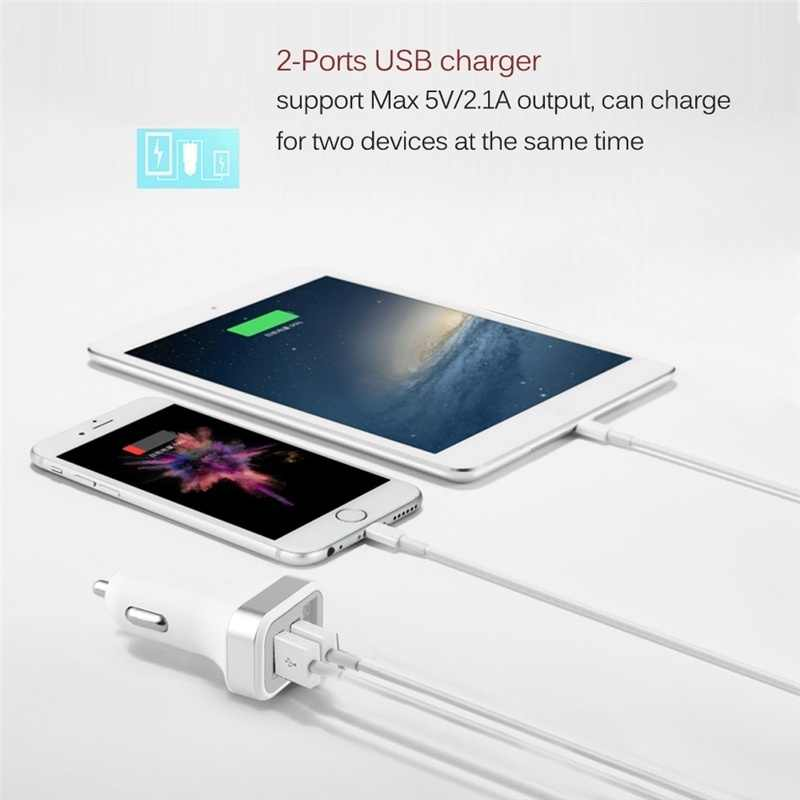 5V Usb Mobil Charger dengan Layar LED Otomatis untuk iPhone 7 Samsung Xiaomi Mobil Ponsel Charger charger Mobil Pengisian